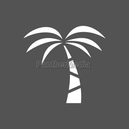 palm tree icon on a dark