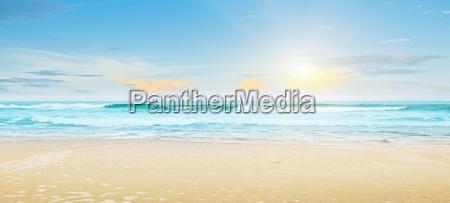 paisaje de verano de playa tropical