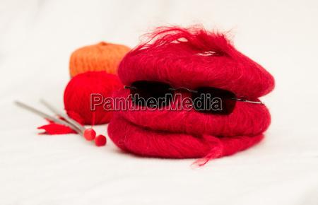 lana tejer agujas el trabajo manual