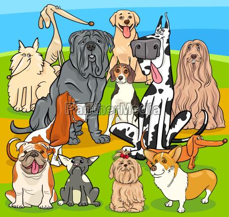 purebred perros personajes de dibujos animados