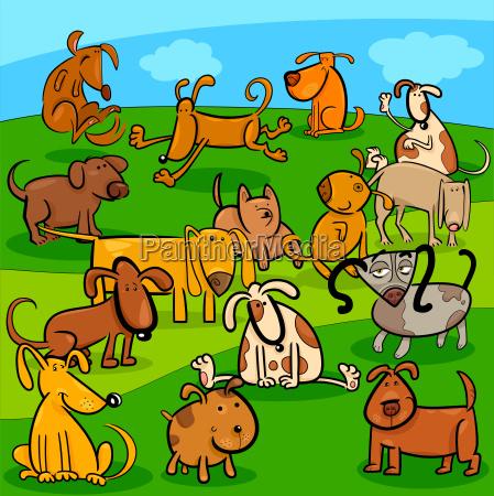 comics perros personajes de dibujos animados
