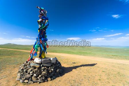 verano veraniego mongolia horizontalmente mongol estepa