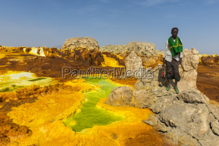 colourful springs of acid in dallol