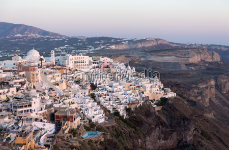 view of fira with its domed