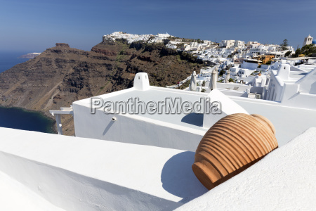 view towards imerovigli and oia from