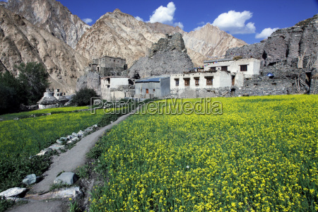 a mountain village in the markha