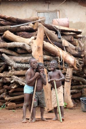 african children in a village sotouboua