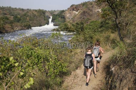 trek along murchison falls uganda africa