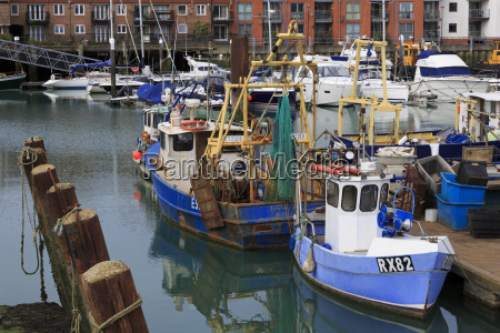 fishing boats portsmouth hampshire england united