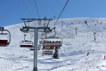 chair lift french alps haute savoie