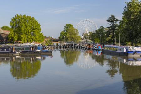river avon long boats and ferris