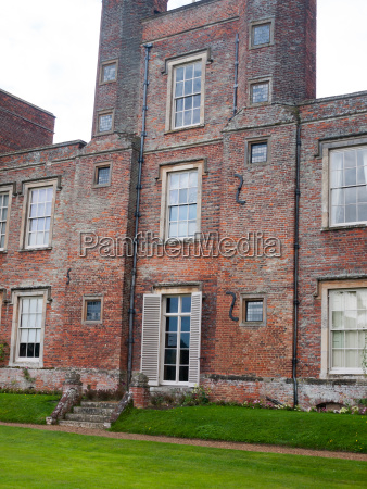 back view of mansion manor england