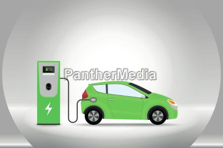carga de coche electrico en la