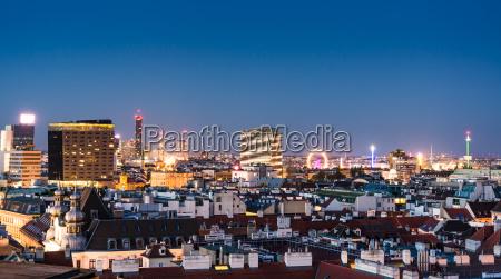 vista aerea sobre el paisaje urbano