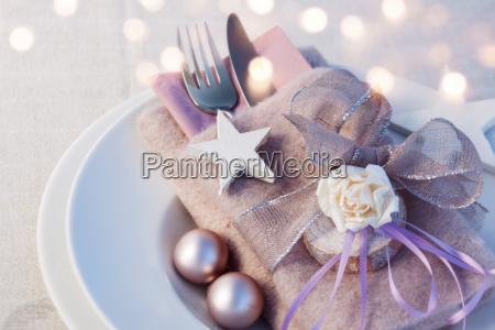romantic christmas table decoration