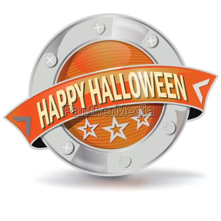button happy halloween