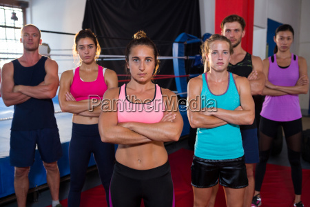 portrait of confident young athletes standing