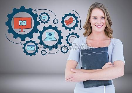 mujer risilla sonrisas educacion femenino grafico