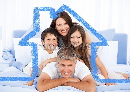 mujer azul casa construccion risilla sonrisas