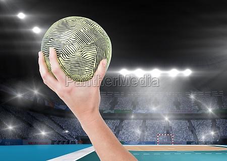 close up de la bola de