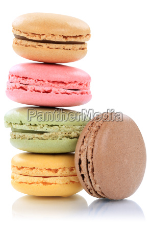 macarons macaroons stack from france cut