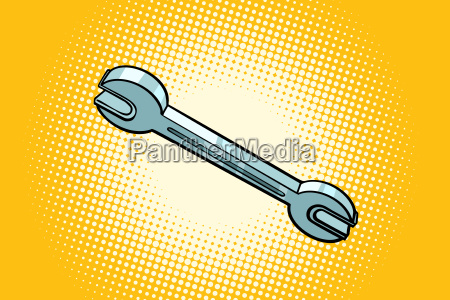 metal wrench tool isolated on a