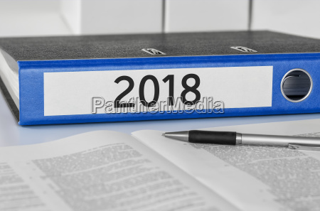 file folder with the label 2018
