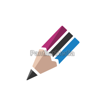 pencil icon on a white background