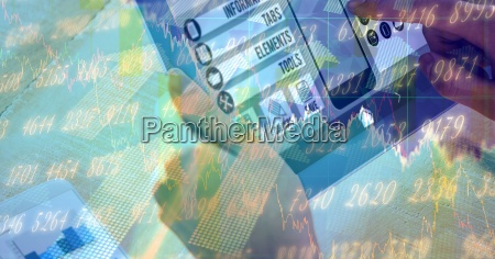 digital composite image of hands using