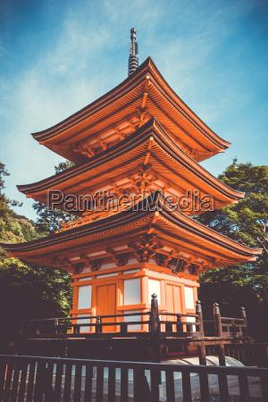 pagoda at the kiyomizu dera temple