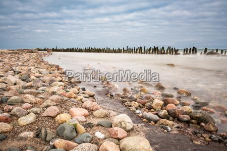 groynes on the coast of the