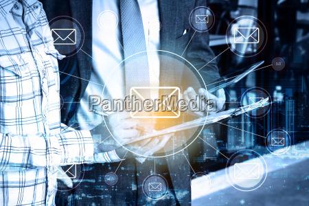 doble exposicion profesional empresario y conexion
