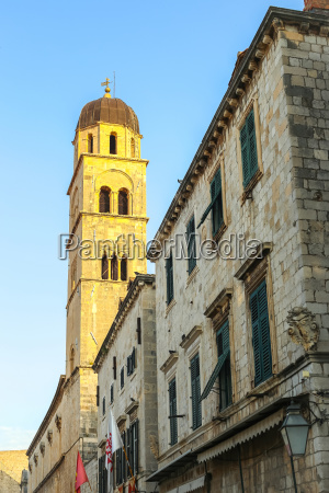 bell tower of franciscan church and