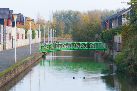 green pedestrian bridge
