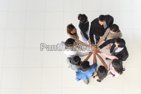 vista superior de socios de negocios