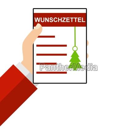wish list christmas flat design