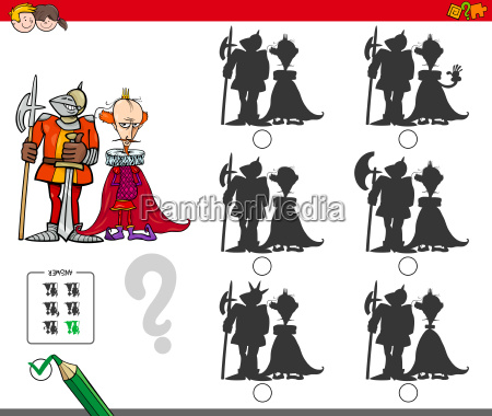 educational shadow game with king and