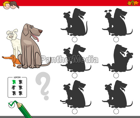 shadow activity game with dog group