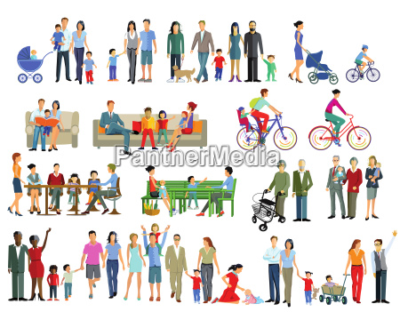 family life generation illustration