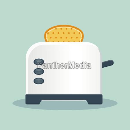 bread toaster flat icon