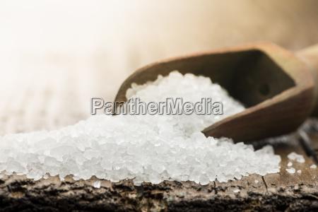 sal salado granulosa mineral grueso bruto