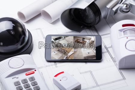 smart home system on mobilephone with