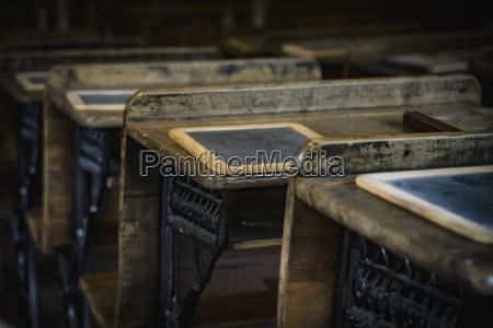 desks in old school