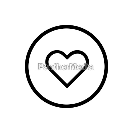 heart line icon on a white