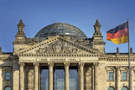 alemania berlin edificio del reichstag con