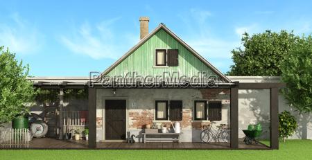 casa construccion jardin fachada jardineria pais