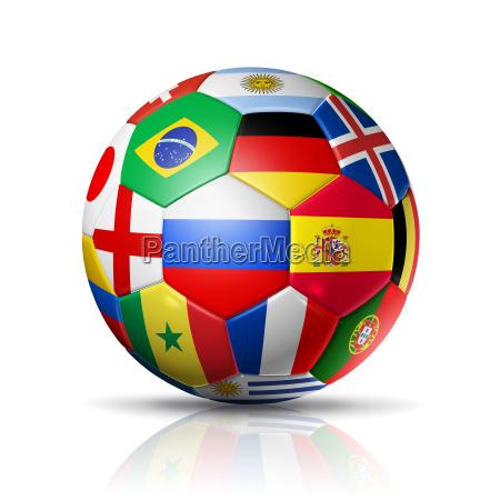 rusland 2018 fodbold fodbold med hold