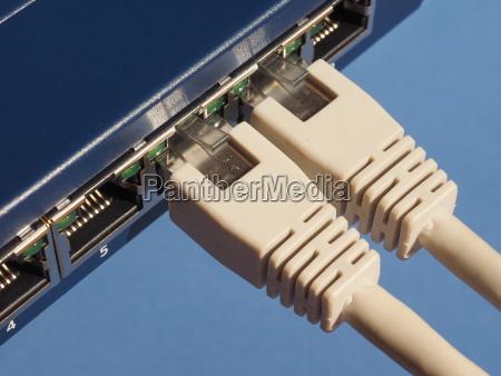 enrutador lan modem puertos