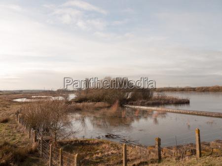 open reservoir scene outside spring summer