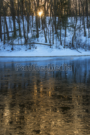 icy water surface